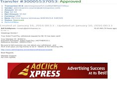 "INCOME JUST BY WATCHING ADS AND POSTING ""I WORK FROM HOME less than 10 minutes and I manage to cover my LOW SALARY INCOME. If you are a PASSIVE INCOME SEEKER, then AdClickXpress (Ad Click Xpress) is the best ONLINE OPPORTUNITY for you  And many more earnings with AdclickXpress like  GET RICH POSTING YOUR PAYOUT PROOFS AND GET REWARDS... For more Details Dial +919153180418To join Click the given link :- http://www.adclickxpress.is/?r=cpzhzj4ycxh&p=mx"