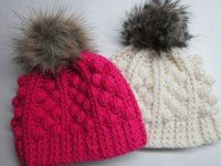 kulich s bambulkou Manta Crochet, Knit Crochet, Crochet Hats, Knit Beanie Hat, Girl With Hat, Crochet Fashion, Knit Patterns, Baby Hats, Knitting Projects
