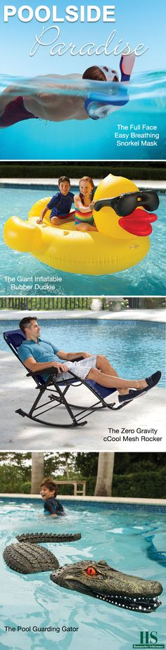 Relax by the pool with unique summer products available at Hammacher Schlemmer.