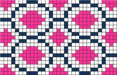 pattern / chart for cross stitch, knitting, knotting, beading, weaving, pixel art, and other crafting projects.