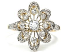 All ABloom: Diamond Flower Ring - The Three Graces