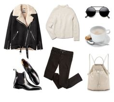Shearling, Darling by fashionlandscape on Polyvore featuring Mode, Theory, Acne Studios, Charles Tyrwhitt and Halston Heritage