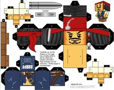 Blog Paper Toy papertoy Jack Sparrow template preview Jack Sparrow Lego x Cubeecraft