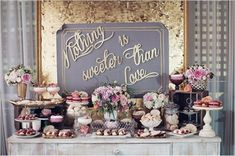 modern wedding dessert table - Google Search
