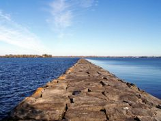 rough yet tranquil Rouses Point Break Water