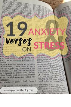 When you're feeling stressed and/or anxious, these 19 verses are ESSENTIAL to getting your mind and heart back on track!