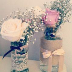 #recicla los botes de conservas y crea jarrones románticos para el día de tu #boda!!! #hazlotumismo , #bodaoriginal