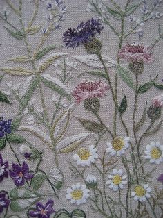 ♒ Enchanting Embroidery ♒ embroidered wildflowers