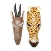 Found it at Wayfair - Serengeti Animal Mask 2 Piece African Tribal-Style Wall Décor Set