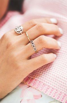 Blogger Chriselle Lim sporting some of her favorite rings. #PANDORA #PANDORAring