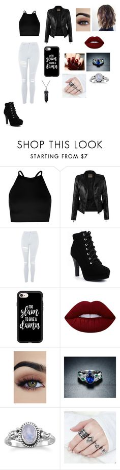 """Day out"" by s-aljasmi ❤ liked on Polyvore featuring Boohoo, Topshop, Casetify, Lime Crime, Peermont and Bling Jewelry"