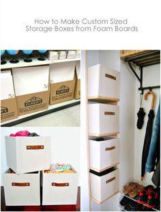 DIY Custom Sized Storage Boxes from foam boards - northstory