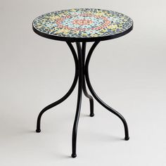 One of my favorite discoveries at WorldMarket.com: Medallion Cadiz Mosaic Accent Table