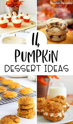 From cookies to cupcakes and whoopie pies- 15 delicious pumpkin dessert ideas for Fall. #fallrecipes #falldesserts #pumpkinrecipes #pumpkindesserts