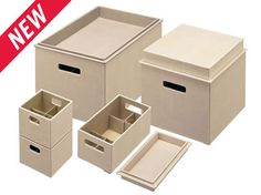 Love these new Rubbermaid Loose Linen boxes.  Pretty way to contain our daily stuff!