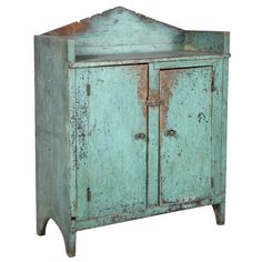 Century Two-Door Jelly Cupboard Primitive Cabinets, Old Cabinets, Primitive Furniture, Primitive Antiques, Country Furniture, White Furniture, Primitive Bedroom, Primitive Homes, Primitive Country