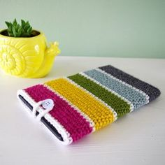 Stash buster crochet tablet case pattern, plus several other cute patterns. Simple stitches and instructions.