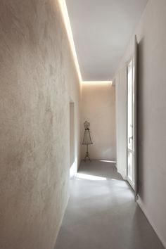 Double level apartment renovation in Siena , Siena, 2016 - CMT architetti Apartment Renovation, Apartment Interior, Room Interior, Interior Design Living Room, Corridor Lighting, Hall Lighting, Interior Lighting, Lighting Concepts, Lighting Design