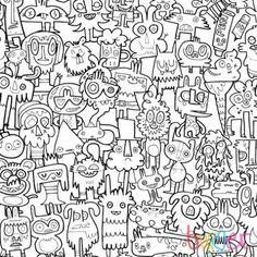 Fancy | Burgerdoodles Colour-In Wallpaper