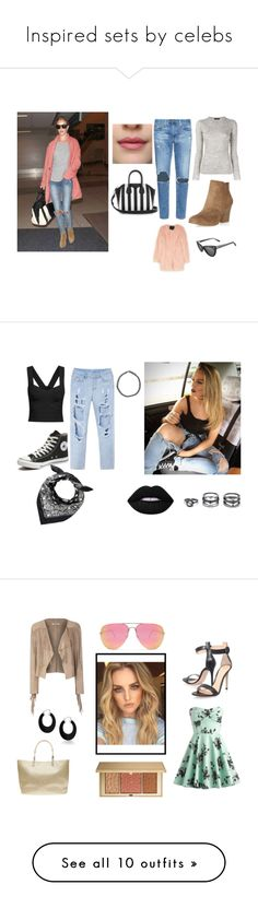 """""""Inspired sets by celebs"""" by raquelferreira370 ❤ liked on Polyvore featuring Kerr®, Proenza Schouler, AG Adriano Goldschmied, Dorothy Perkins, Unreal Fur, Derek Cardigan, Givenchy, Converse, Boohoo and Lime Crime"""