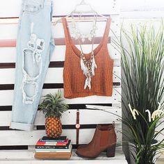 Love this Our 'Django' jeans + 'In The Sun' crop + 'Verali-Gia' boots Shop now @ www.showpo.com #iloveshowpo