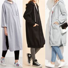 Hijab styles 503418064582308896 - Longline Modest Sweatshirts – Prices & Stores Source by hijabfi Islamic Fashion, Muslim Fashion, Modest Fashion, Hijab Fashion, Fashion Outfits, Womens Fashion, Casual Hijab Outfit, Hijab Chic, Casual Outfits