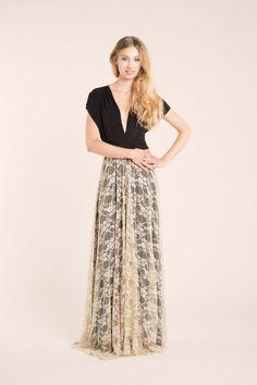 Beige Lace Maxi dress, vintage style party dress. Via en.DaWanda.com.    #lyoness   Shop now: https://www.lyoness.com/branche/clothing