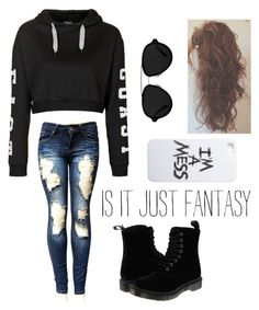"""""""It's Our Fantasy"""" by just-a-reject-x ❤ liked on Polyvore featuring Topshop, Dr. Martens, 3.1 Phillip Lim, LAUREN MOSHI, women's clothing, women, female, woman, misses and juniors"""