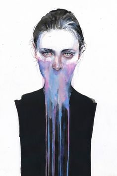 Artist:+Silvia+Pelissero+ Title:+My+Opinion+About+You+(Print)+ Size:+20+x+30  Silvia+Pelissero,+a+painter+best+known+as+Agnes+Cecile,+was+born+in+Rome,+Italy.+Using+simple+images+coupled+with+abstract+color+and+detail,+Agnes+Cecile+creates+rich,+emotional+human+portraits.