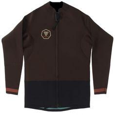 Chaquetilla Vissla Front Zip Jacket Marrón