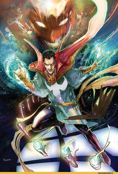 Doctor Strange vs Dormmanu by Peter Nguyen