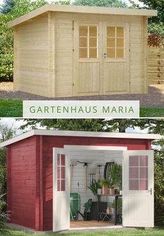Gartenhaus Maria mit Pultdach - perfekt für die Aufbewahrung von Gartengeräten.