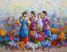 zaman  60x80 Prismacolor, People Art, Woman Painting, Primitive, Art Projects, Landscapes, Fine Art, Embroidery, Portrait