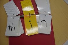 Word work idea... blends for the first group, vowels in the middle and consonants on the end! Like this idea :)