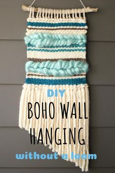 Tips For Just A Second Wedding Ceremony Anniversary Reward No Need To Spend Big Bucks On A Beautiful Wall Hanging, Learn How To Easily And Inexpensively Make One Using Cardboard And Yarn. Crochet Wall Hangings, Weaving Wall Hanging, Boho Wall Hanging, I Spy Diy, Fun Diy, Freezer Paper Stenciling, Boho Diy, Bohemian Decor, Diy Tops