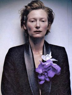 Actress Tilda Swinton photographed for Interview in 2001.http://www.interviewmagazine.com/film/casting-call-cruella-de-vil/#slideshow_57558.1