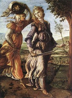 Sandro Botticelli ~ The Return of Judith to Bethulia, c.1472 (Uffizi)