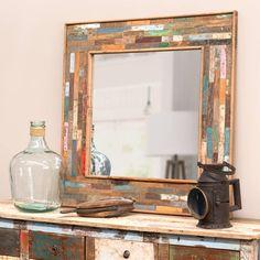 Espejo de madera Al. 90 cm BOHÈME