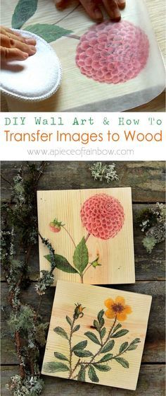 Detailed tutorial on how to transfer image to wood easily and make beautiful, one-of-a-kind printed wood wall art, home decor or gifts!