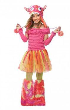 Im brutal neonpinken Monstermädchenkostüm übersieht dich keiner mehr #kostum #costume