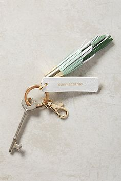 """""""open sesame"""" keychain for the woman that is constantly on the go Leather Accessories, Leather Jewelry, Jewelry Accessories, Leather Bag, Girly Gifts, Luxury Sunglasses, Tech Gifts, White Elephant Gifts, Girly Things"""