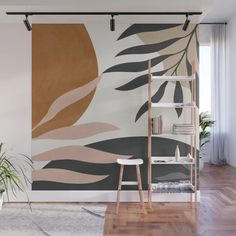 Abstract Art 54 Wall Mural by thindesign