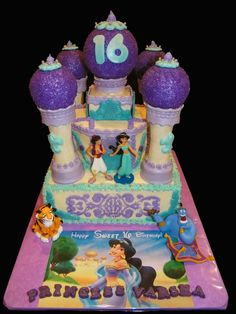 Amazing Photo of Princess Jasmine Birthday Cake Princess Jasmine Birthday Cake Princess Jasmine Aladdin Sweet 16 Cakecentral Jasmine Birthday Cake, Jasmine Cake, Sweet 16 Birthday Cake, Dessert Table Birthday, Birthday Desserts, 5th Birthday, Disney Themed Cakes, Disney Cakes, Princess Jasmine Party