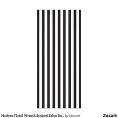Modern Floral Wreath Striped Salon Rack Card