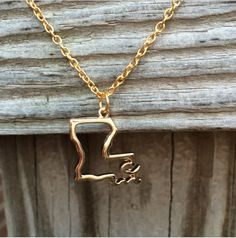 Gold Louisiana Necklace
