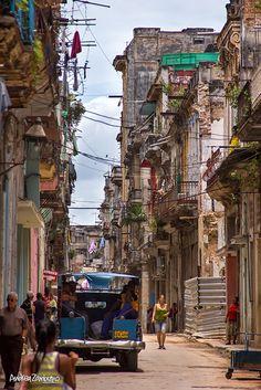 A street in Havana Vieja, Cuba.