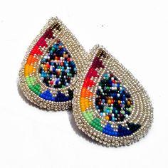 A Study of Bead Plate Earrings by Chenoa Williams (Pyramid Lake Paiute).