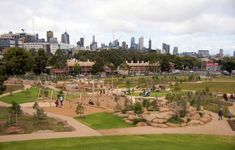 40 best playgrounds in Australia Melbourne Sydney Brisbane Adelaide Perth Canberra & regional. Judged by Australian Institute of Landscape Architects 2016 Outdoor Play Spaces, Royal Park, Park Playground, Bike Parking, Water Play, Cool Bikes, Melbourne, Playgrounds, Dolores Park