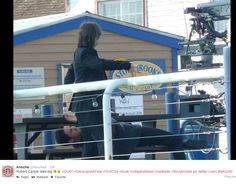Robert Carlyle Dancing... and Colin is enjoying it.... 20 August 2014
