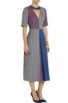 RoksandaLayne herringbone tweed midi dressfront